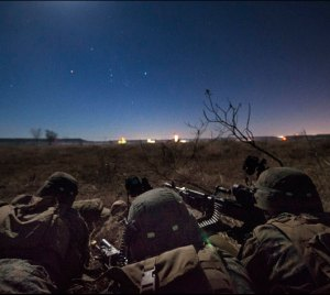 "Students from the Infantry Officer Course (IOC) at Marine Corps Base Quantico, Va., completed a ""Proof-of-Concept"" 1,100 mile, long-range operation from Twentynine Palms, Calif., to Fort Hood, Texas, via MV-22 Ospreys, on Dec. 15, 2013. The Marines fast-roped into a mock city to secure the embassy and rescue key U.S. personnel. The Marine Corps is the only military branch with the proven capability to missions of this magnitude, whether for humanitarian, rescue, combat operations or other special-forces type missions. Photo: USMC by  Sgt. Tyler Main."