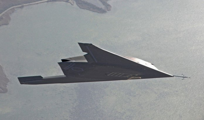 The first nEUROn flight with landing gear raised was held in December 2013. Photo: Dassault.