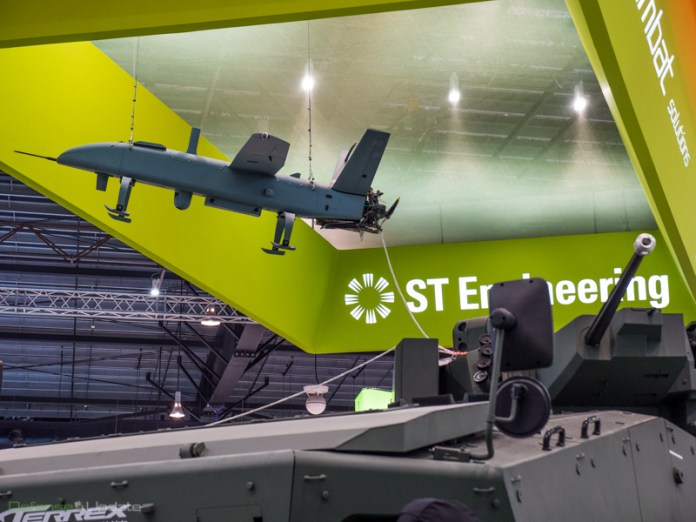 An example of how the ST Kinetics connected combat team could work, is the integration of the Blade IV UAS and 'Terex Mothership'  armored vehicle, supporting a squad with firepower, protection, mobility, communications, computing and energy storage.