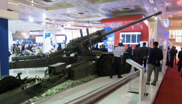 Bharat 52 is a self-propelled variant of the 155mm/52Cal gun produced in India by Bharat Forge. The system uses self-propelling capability and automatic laying, enabling rapid 'shoot and scoot' even with towed guns. The self propelling system can move the cannon at a speed of up to 30 km/h, and provide sufficient mobility for change of positions. The system weighs 14 tons and has a maximum firing range of 41 km, with 3-5 rounds per minute rate of fire.