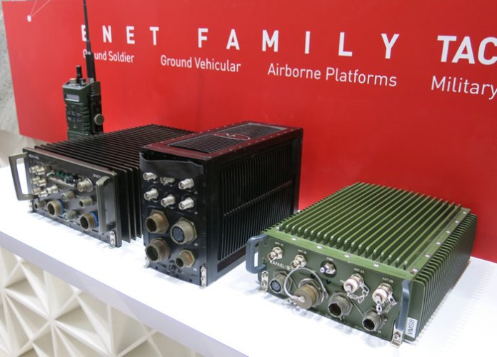 RAFAEL BNET Family systems are modern software defined radio modules enabling high capacity data transfer and voice communications. Photo: Tamir Eshel, Defense-Update