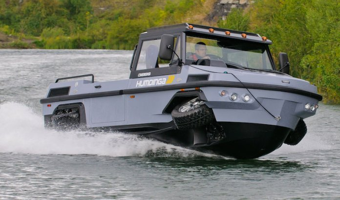 In addition to first responder and humanitarian uses,  Humdinga also have the potential to provide military units with specialized capabilities as well as many general transport applications. Photo: Gibbs Amphibians