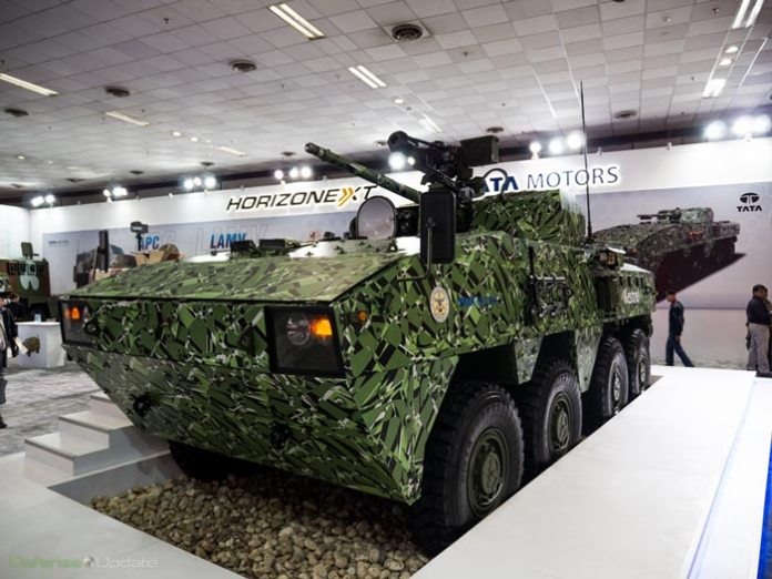 The 8x8 vehicle has a crew of two and accommodations for up to 10 troops. It is capable of travelling at a speed of 105km/h on road and maintains high cross-country mobility, with independent suspensions and eight wheel drive. Photo: Noam Eshel, Defense-Update