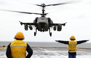 The Vladivostok will carry eight Ka-52K attack helicopters and eight Ka-29 anti-submarine/multi-mission helicopters.