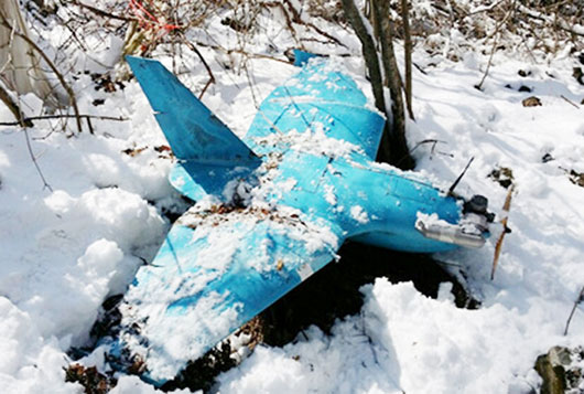 This mini-UAV was found in October 2013 on the east coast area of South Korea, near the town of Samcheok.
