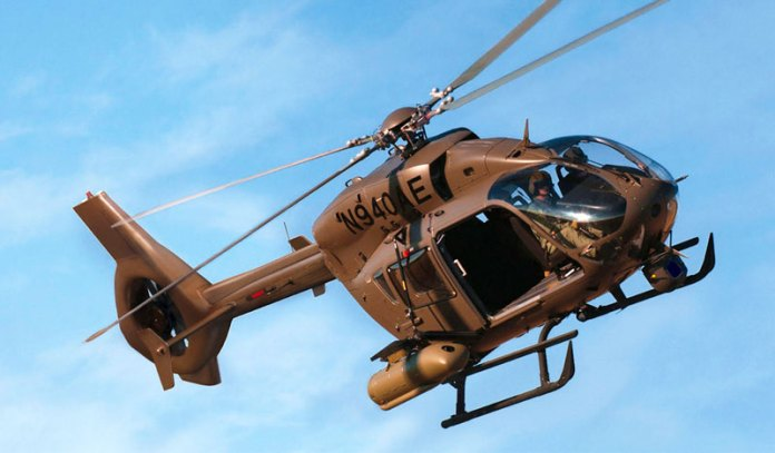The EC645 T-2 is the most powerful model in theEC145 series. Photo: Airbus Helicopters
