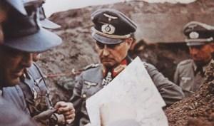 Walter Model with General lieutenant (later General der Infanterie) Friedrich Schulz.