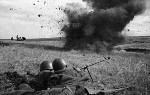 Anti-tank rifle teams in action, 1943.
