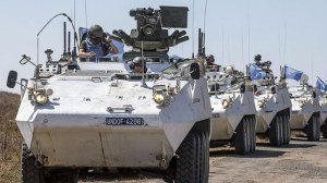 An armored column gathered to rescue Philippino peacekeepers from the Syrian Golan.