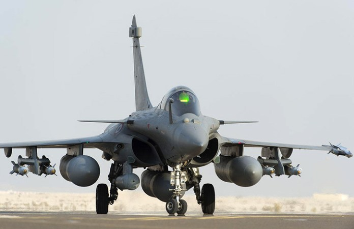 The French Rafales performed the strike with GBU-12 laser guided, marking their targets with Damocles targeting pods. Photo: French Air Force, SIRPA