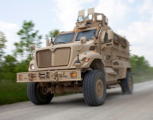 US soldiers trained in driving MaxxPro MRAPs, 2010. Photo: U.S. Army by David Bruce