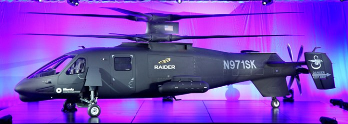 S-97 Raider multi-role helicopter unveiled by Sikorsky Aircraft yesterday.  Photo: Sikorsky
