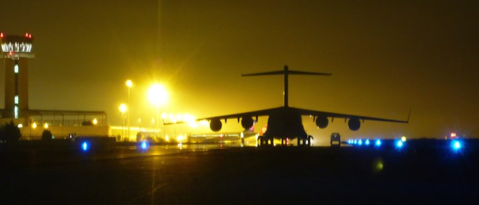 An Australian C-17A Globemaster aircraft has returned to Al Minhad Air Base in the United Arab Emirates (UAE) after delivering military stores to Erbil, Northern Iraq on 2nd September 2014. The aircrew flew from Al Minhad Air Base over the weekend via Tirana, Albania, where the aircraft was loaded. The military stores, consisting of ammunition, was then inspected and cleared by Iraqi officials in Baghdad before moving north to Erbil. The stores will help the people of Iraq to confront the threat posed by Islamic State in Iraq and the Levant (ISIL) extremists. The Australian mission is consistent with similar assistance being provided by the United States, Albania, Canada, Croatia, Denmark, Italy, France, and the United Kingdom. Royal Australian Air Force C-130J Hercules and C-17A Globemaster aircraft remain available to assist the people of Iraq. Photo: Australian DOD.