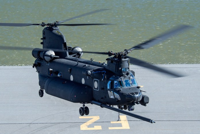 Boeing will soon deliver the first new build MH-47G configuration to the US Special Operations Command. The modernized Chinook incorporates a number of production improvements to include the digital advanced flight control system, more robust, improved monolithic machined-frames, and improved air transportability. Photo: Boeing