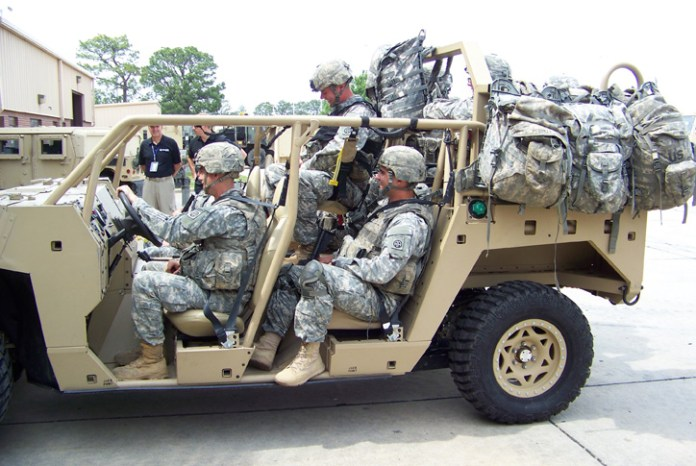 DAGOR can carry 3,250 lbs of payload or a 9-man infantry squad. Photo: Polaris