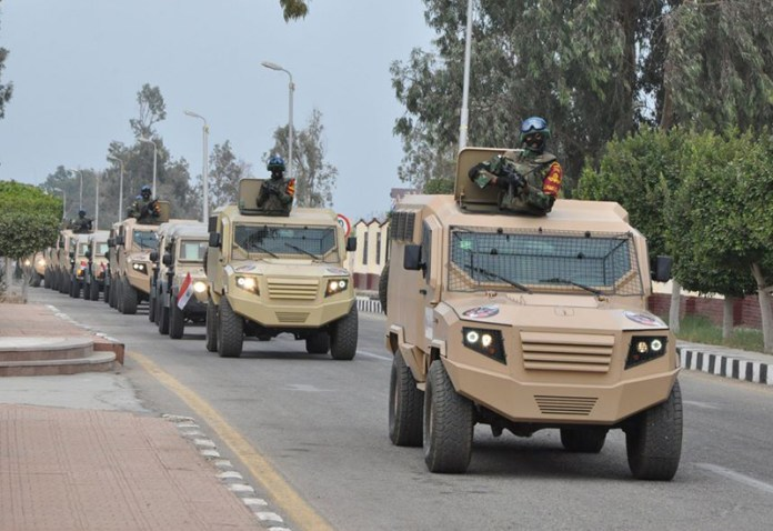 Egyptian military units were deployed yesterday (Thursday 27 November) in preparation anti-government demonstrations called by the Salafist front. The authorities have arrested more than 100 people in advance of planned demonstration. Photo: Egyptian Government