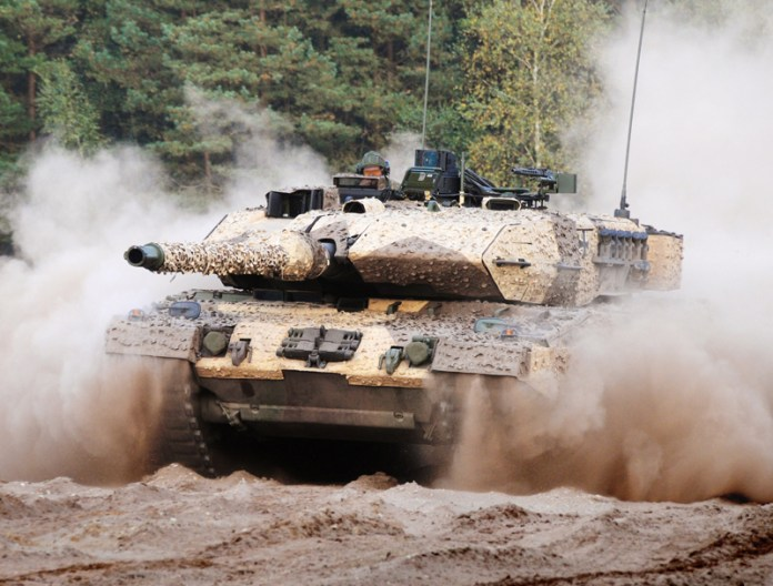 The Leopard 2A7 received new optronics systems for the commander and driver, air conditioning system for the crew and auxiliary power unit augmenting the tank's endurance on silent watch. The choice of ammunition has also increased to include the DM12 multi-purpose high explosive cartridge. Photo: KMW