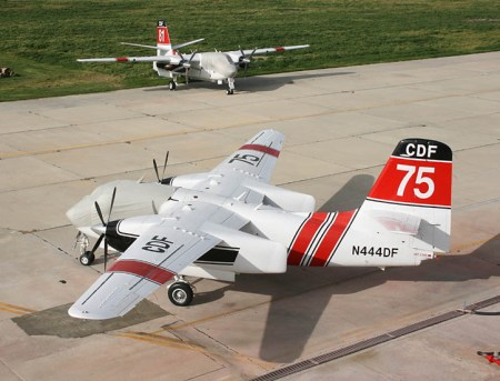 Marsh Aviation certified and implemented the conversion of 26 ex-US Navy C-1 Trader into Turbo Trader firefighters for the California Forestry and force.