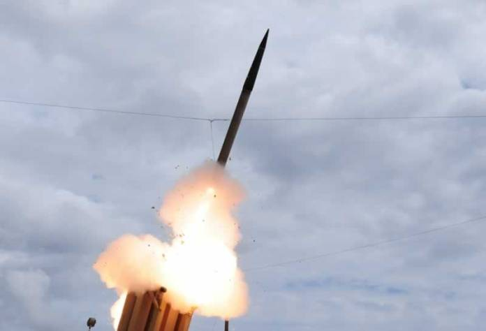THAAD interceptor seen here launched on its tenth test flight. Photo: MDA