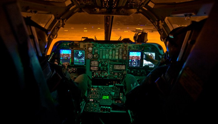 The IBS is a combination of three different upgrades, which includes a Fully Integrated Data Link, a Vertical Situation Display upgrade, and a Central Integrated System upgrade.   PHOTO: USAF, Richard Ebensberger