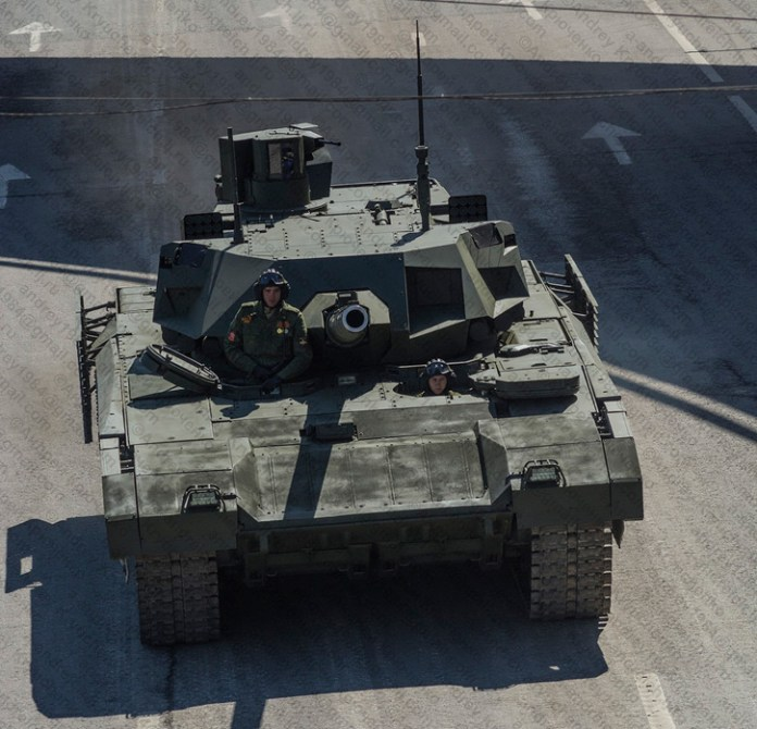 A front view of the T-14. Photo: Andrey Kryuchenko