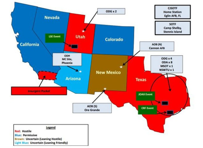Exercise jade helm 15 - Operations map