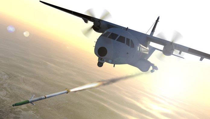 BAE's Advanced Precision Kill Weapon System will be fitted to Jordanian CASA-235 light gunships. Photo: BAE Systems