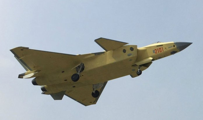 The 2101 aircraft is equipped with distinctive diamond-shape infra-red distributed aperture and electro-optical targeting sensors (under the fuselage) enabling the pilot to acquire air and surface targets in stealth mode, without using the powerful AESA radar.