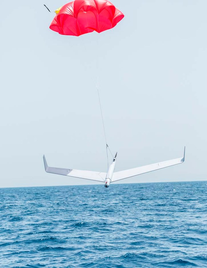 The waterproof Skylark C can land on water using automatic, precision recovery on water capability. (Photo: Elbit Systems)