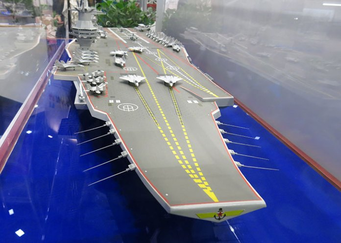 The future Russian 'Super-Carrier' Project 23000E will be sized to match the US Nimitz class. Photo: Tamir Eshel, Defense-Update