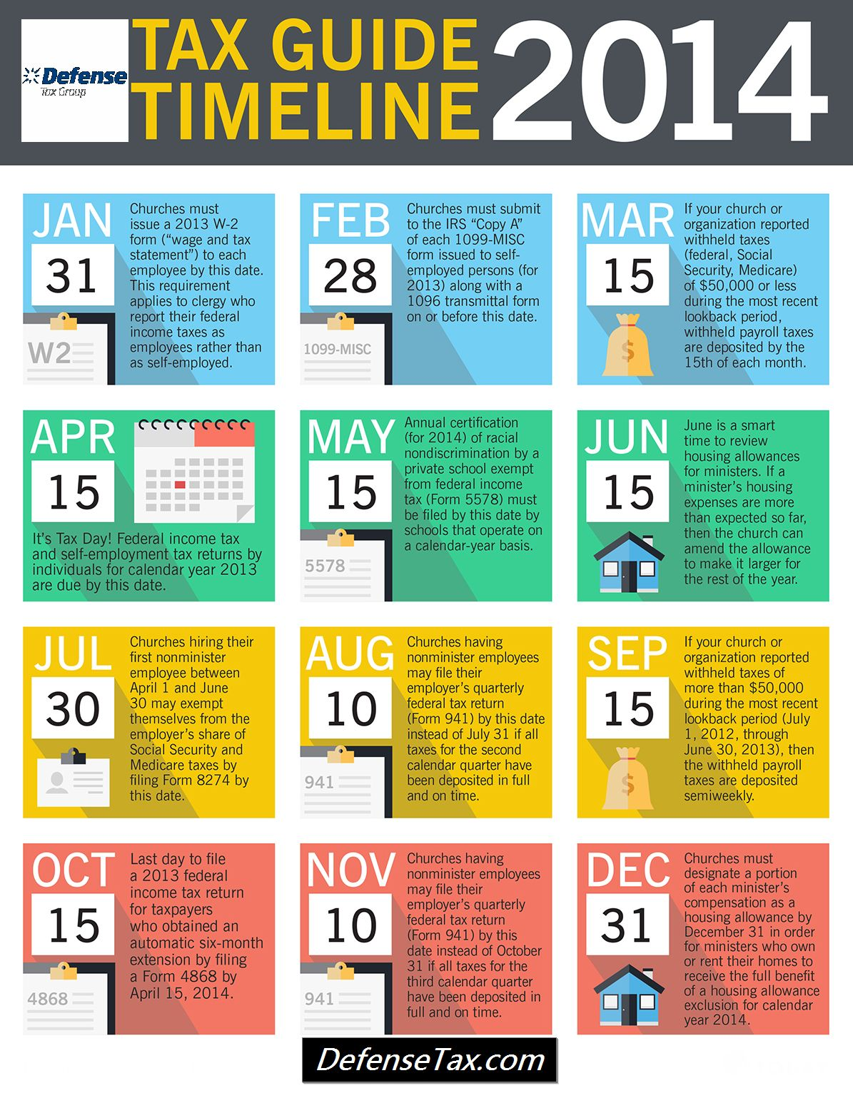 Tax Guide Timeline Infographic