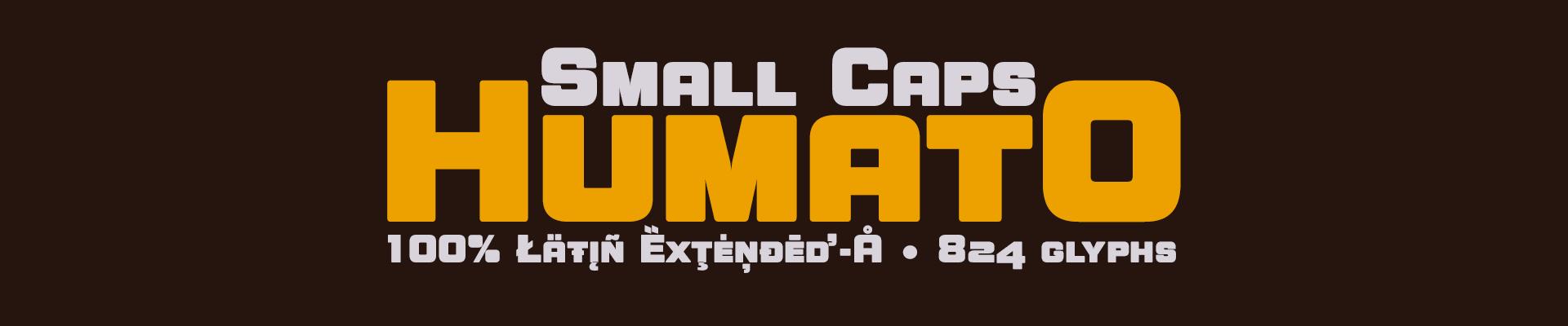 Humato Small Caps - 02 styles - OpenType Features