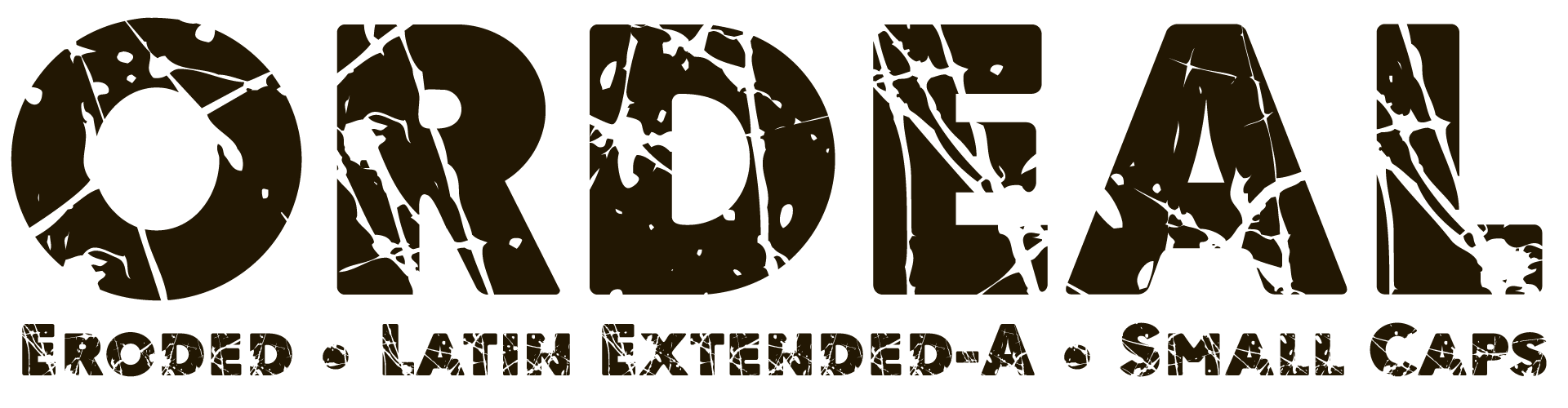 Ordeal Eroded Display Font Latin Extended-A