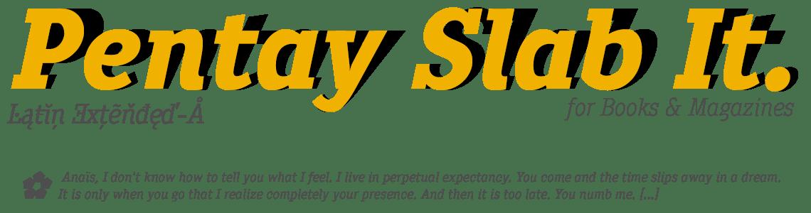 Pentay Slab for books & magazines - True Italics