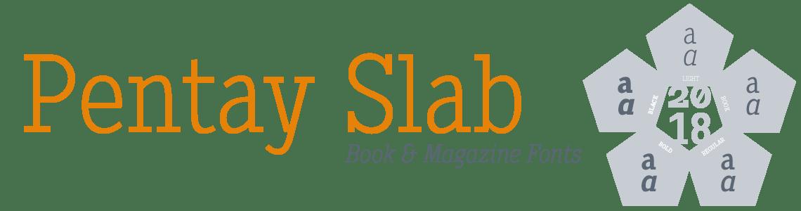 Pentay Slab Serif. Book & Magazine Fonts