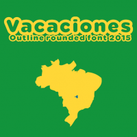 Vacaciones free font 2015