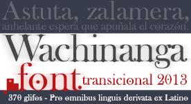 Tipografía con serif estilo art deco
