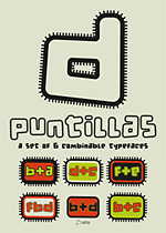 Cartel tipográfico: d puntillas: a set of 6 combinable typefaces.