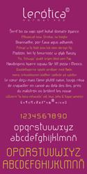 Tipografía Lerótica normal. Extended character set
