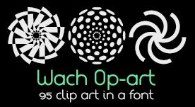 Clip art geometrícos de estilo Op-art