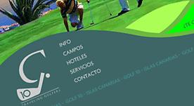 Página web en Flash para empresa de Golf en Canarias