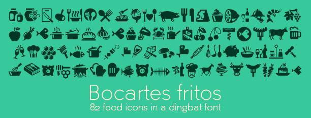 Bocartes fritos: Dingbat font 100% free