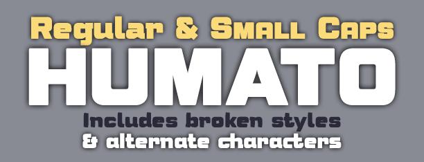 Humato Heavy fonts