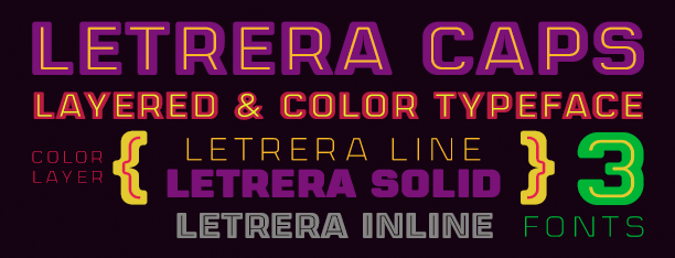 Letrera Caps Color Fonts