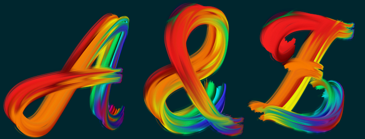 Multi-Brush Color Alphabet