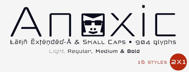 Anoxic fonts -Sans & Stencil-