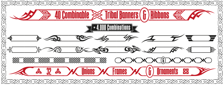 Tribal Banners & Frames