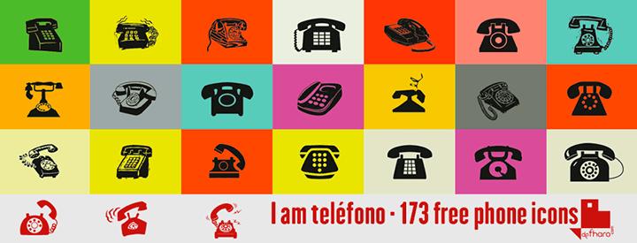 173 iconos telefónicos 100% gratis
