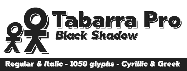 Tabarra Shadow Pro -2x1 Fonts-