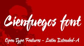 Cienfuegos, calligraphic font